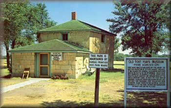 Picture of the Fort Hays Blockhouse