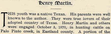 Henry Martin story by Wilbarger
