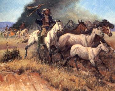 Picture of Comanche Herding Horses
