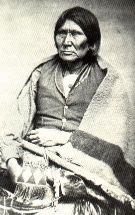 Picture of Comanche Chief Oska Horseback