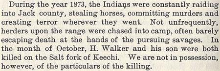 Howell Walker story by Wilbarger