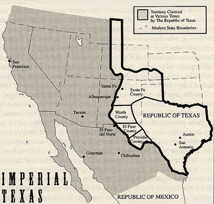 Map of Imperial Texas