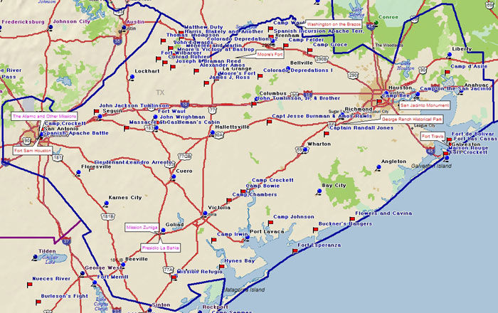 Map of the Texas Independence Region