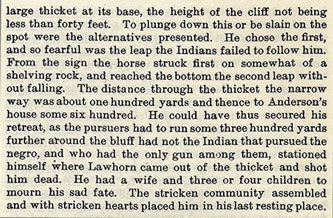 Jesse Lawhorn story from the book Indian Depredations in Texas by J. W. Wilbarger