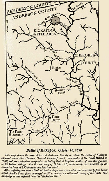 Battle of Kickapoo Map