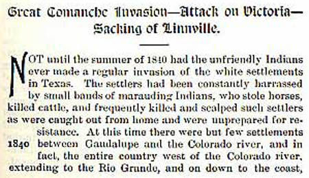 Linnville story by Wilbarger