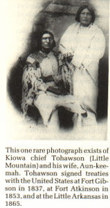 Picture of Kiowa Chief Tohawson and his Wife