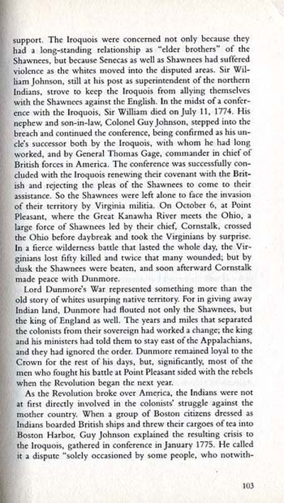 Story of Lord Dunmore's War