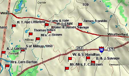 Weatherford to Mineral Wells Map