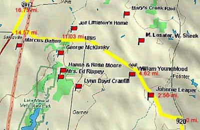 1885 Northwest Map