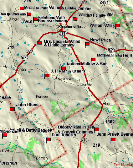 Map of Stephenville