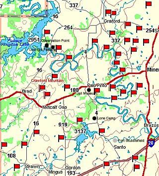 Palo Pinto County Map