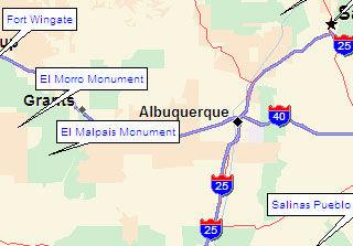 Map of Albuquerque, New Mexico