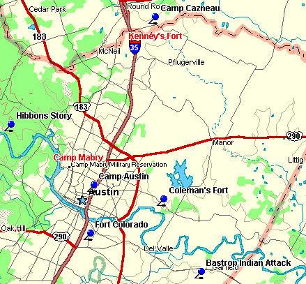 Coleman's Fort Leg Map