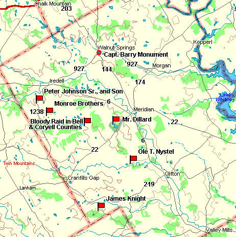 Bosque County Map