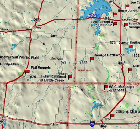 Map of Breckenridge Blood Trail