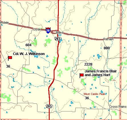 Callahan County Map