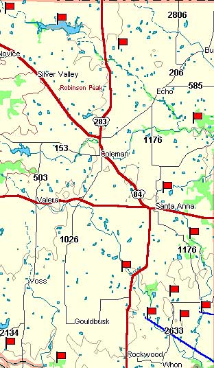 Coleman County Map