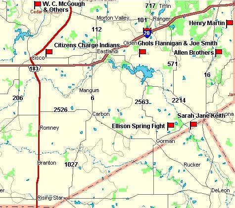 Eastland County Map