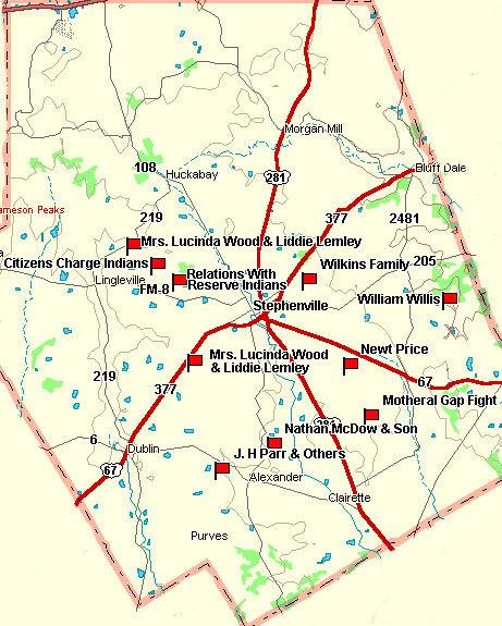 Erath County Map