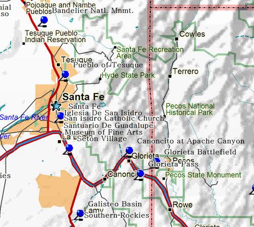 East Santa Fe New Mexico Map