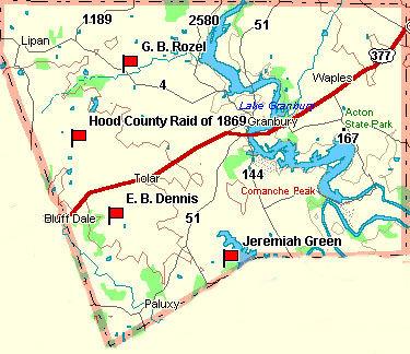 Hood County Map