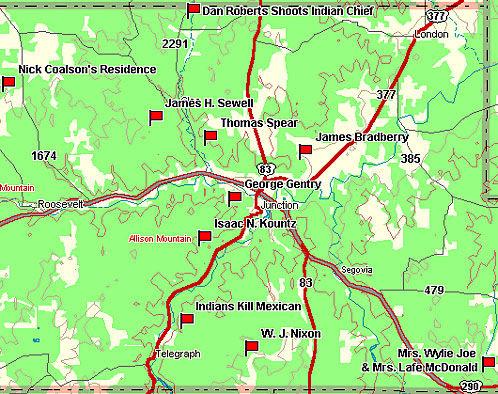 Kimble County Map