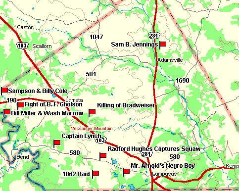Lampasas County Map