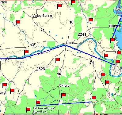 Llano County Map