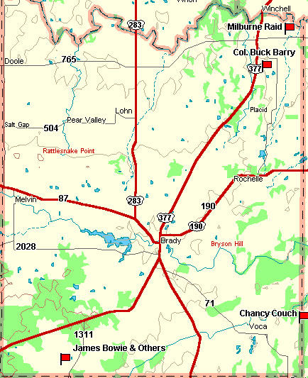 McCulloch County Map
