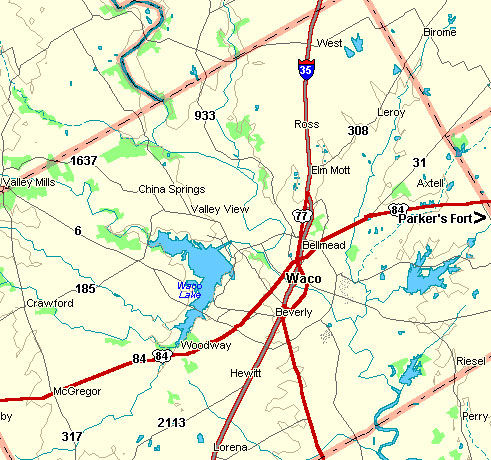 McLennan County Map