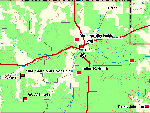 Menard County Map