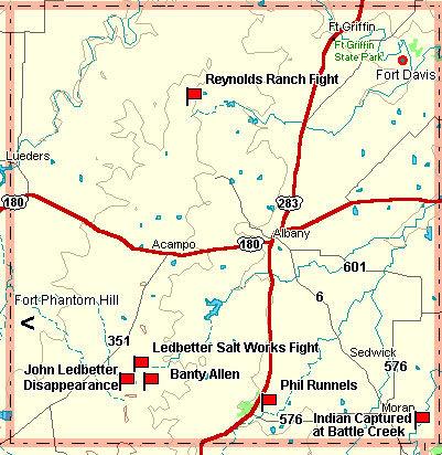 Shackelford County Map