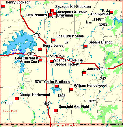 Stephens County Map