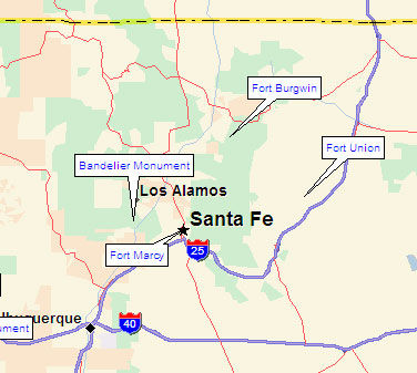 Northcentral New Mexico Map