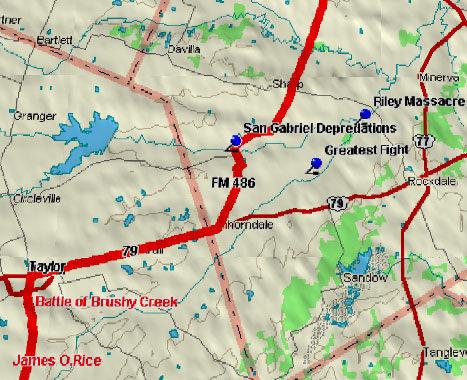 San Gabriel Blood Trail Map