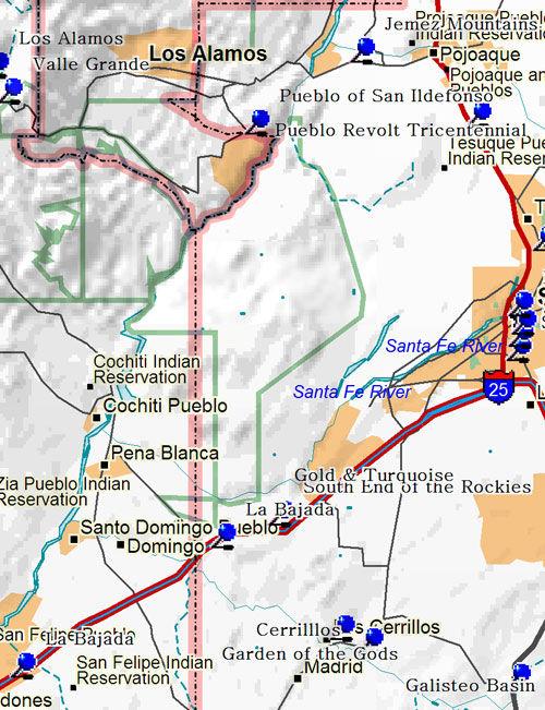 West Santa Fe New Mexico Map
