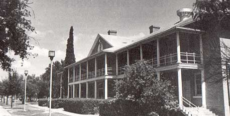 Photo of barracks at Fort McIntosh taken by Charles M. Robinson, III from the book, Frontier Forts of Texas