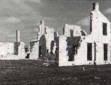 Photo of the ruined commanding officers quarters taken by Charles M. Robinson, III from the book, Frontier Forts of Texas