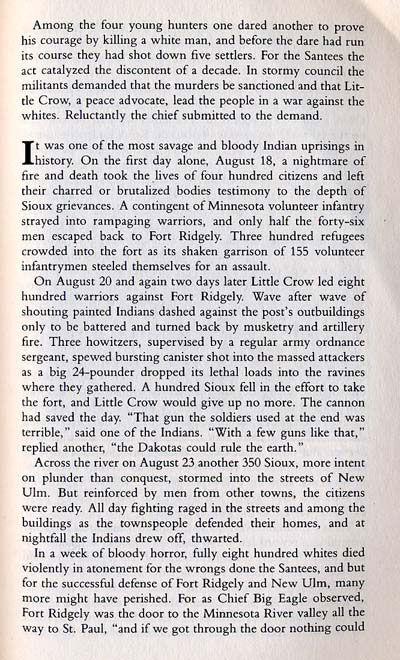 Minnesota Sioux Uprising Story