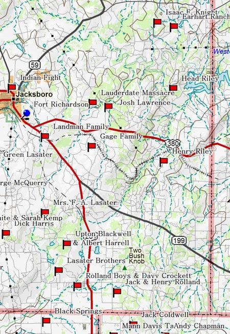Map of Jacksboro