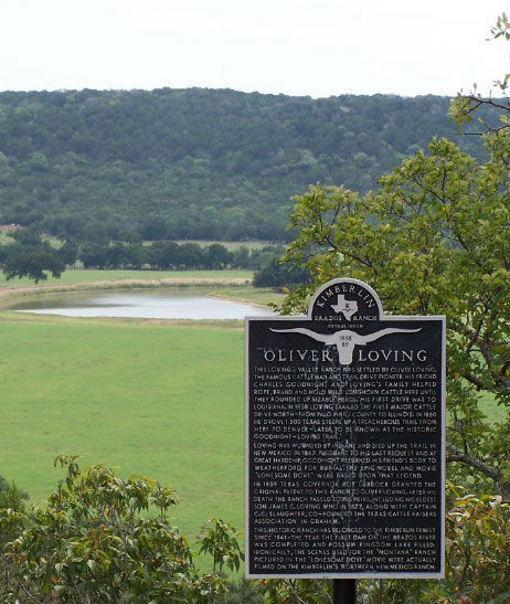 Picture of the Oliver Loving Historical Marker and Pasture