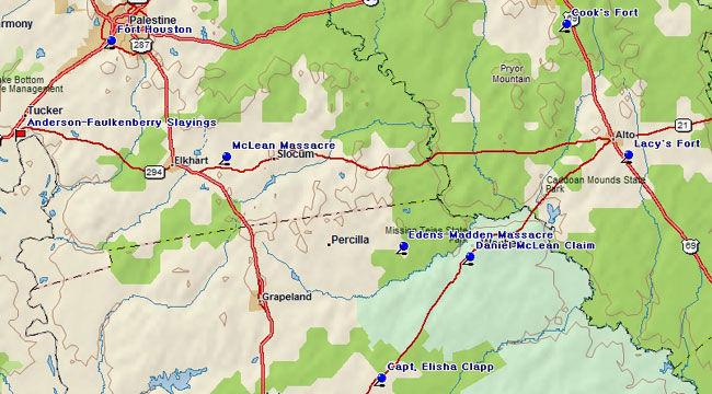 Fort Houston Settlements Map