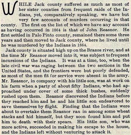 John Reasoner story by Wilbarger