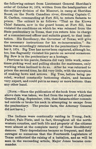 Satanta, Satank and Big Tree's Raid story from the book Indian Depredations in Texas by J. W. Wilbarger