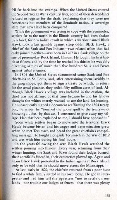 Seminole War Story