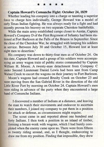 Captain Howard's Comanche Fight, October 24, 1839