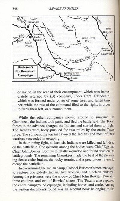 Cherokee Battle, Christmas 1839