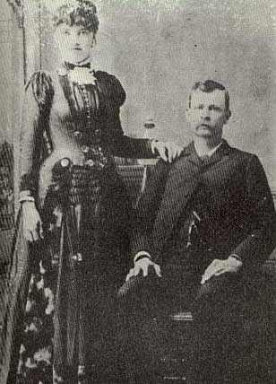 Picture of Joe Sherman and his wife, Pearlina Underhill Sherman