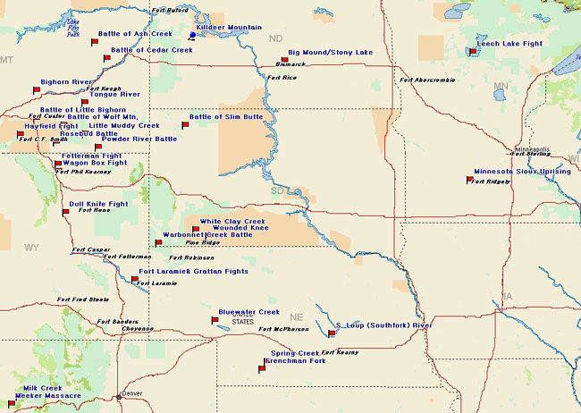 North Central United States Frontier Historical Map
